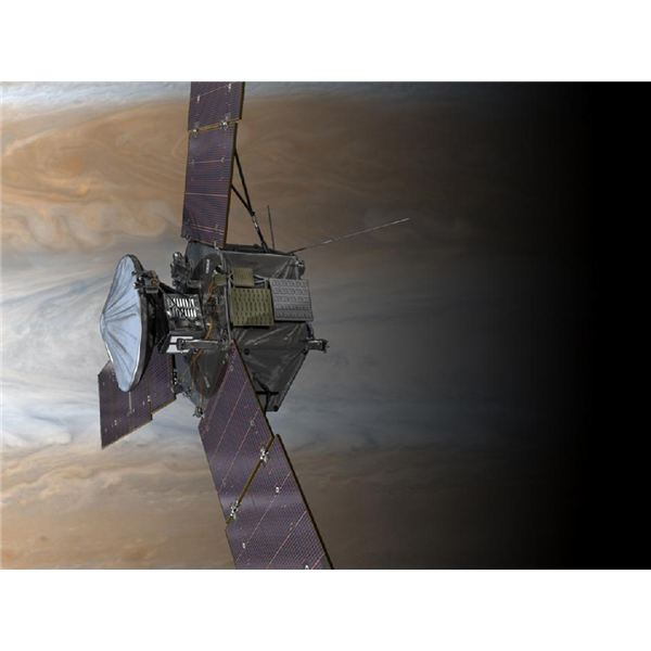 Juno at Jupiter with Solar Panels Unfurled
