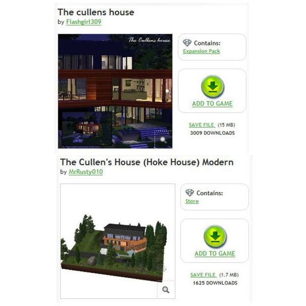 The Sims 3 Edward Cullen House