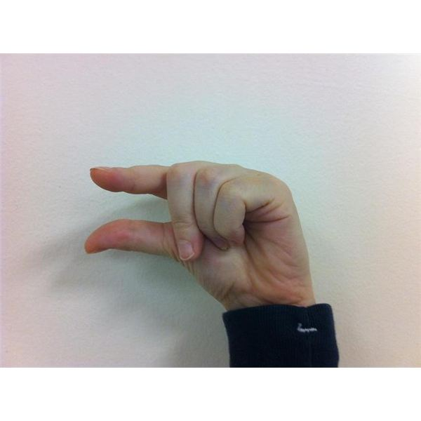 American Sign Language: Fingerspelling G