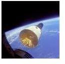Gemini 6 seen from Gemini 7