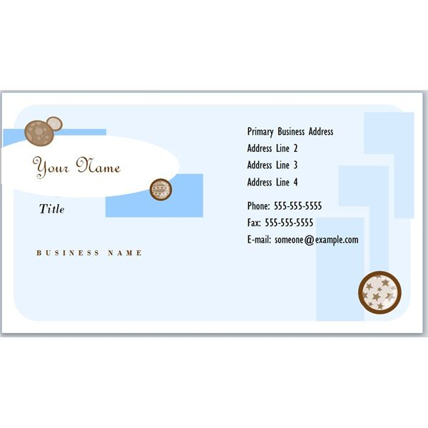 Business Card With Designer Circles