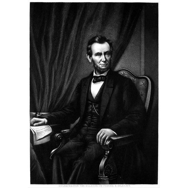Abraham Lincoln with the Emancipation Proclamation