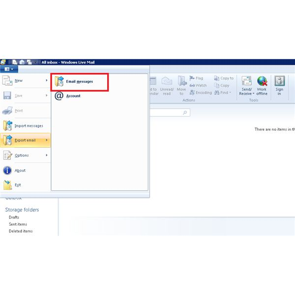 Windows Live Mail Messages Import