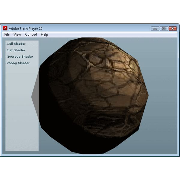 Papervision 3D Demo - Cell Shading
