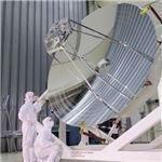 Herschel's rather large mirror. Credit: ESA.