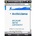 ArcticLlama IE Mobile One Column View