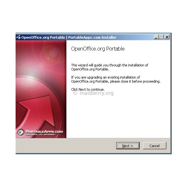 The Wizard for Installing OpenOffice.org Portable