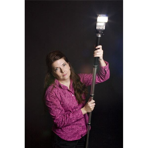 A monopod is handy for extending your flash.
