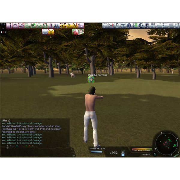 Entropia Universe: Guide To Hunting For Beginners Hunting Basics and First Weapon