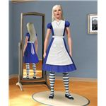 The Sims 3 Alice in Wonderland Dress and Sim
