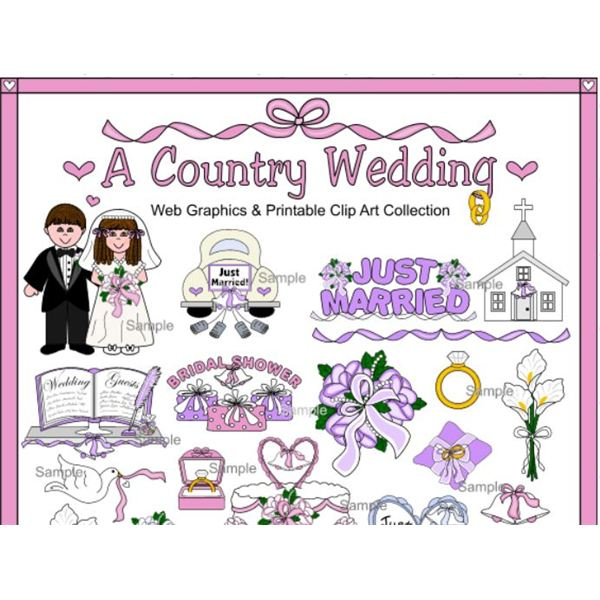 Wedding Border Clipart: Country Clipart