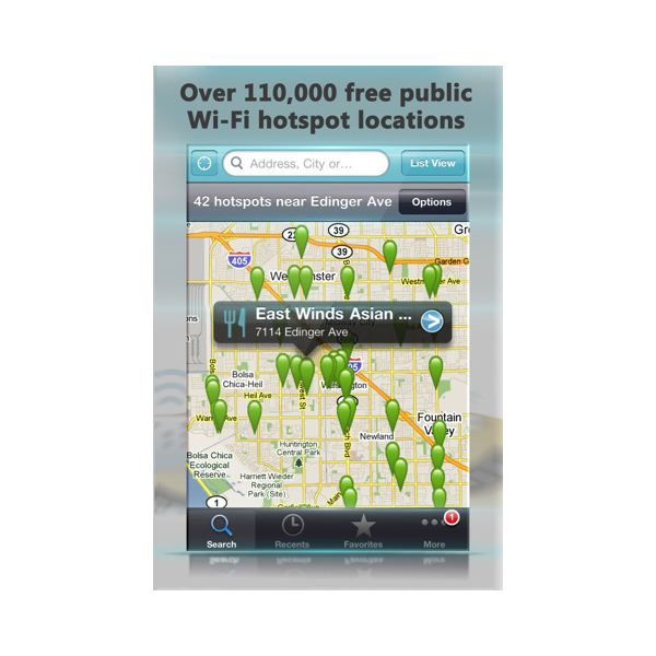 Free Wi-Fi Finder iPhone App