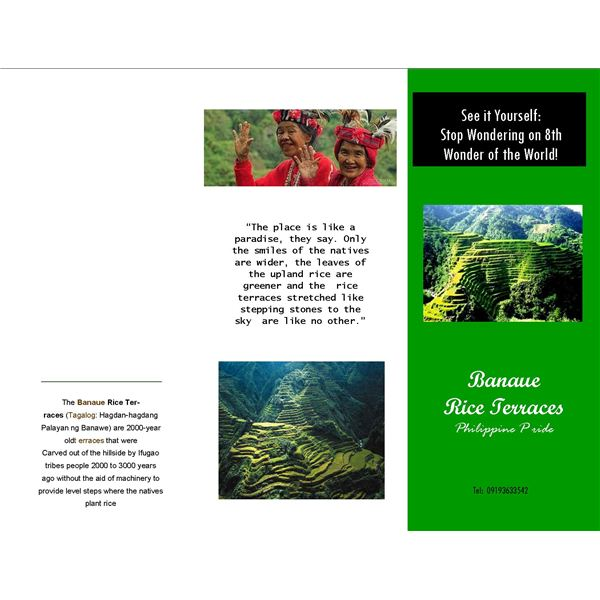 Downloadable Great Examples Of Microsoft Publisher Travel Brochures