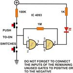 Simple NAND Gate Set Reset Circuit Diagram, Image