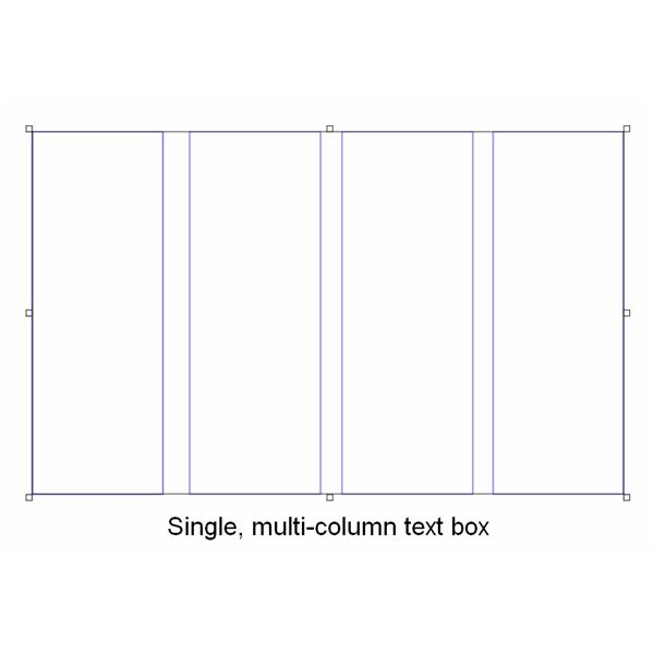 Single, multi-column text box