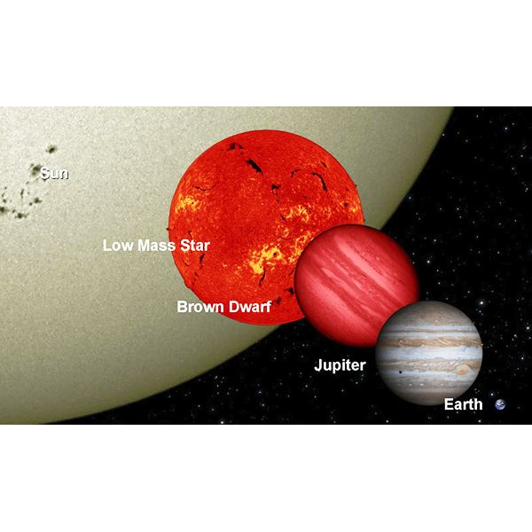 The relative size of the hypothetical Nemesis star
