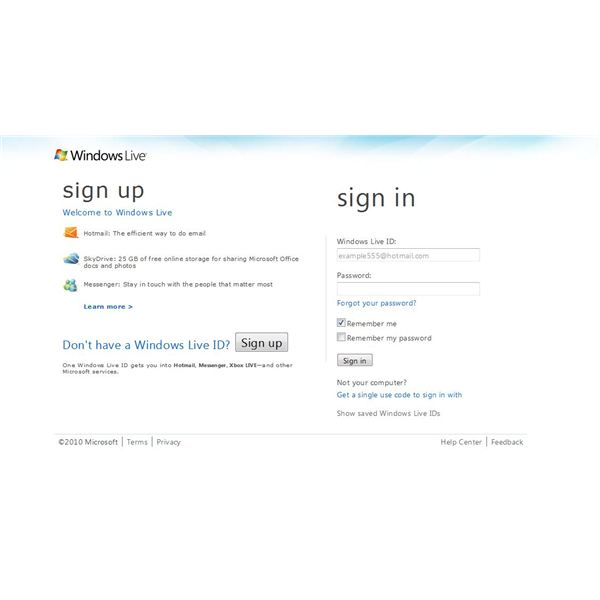 Sign Up for Hotmail