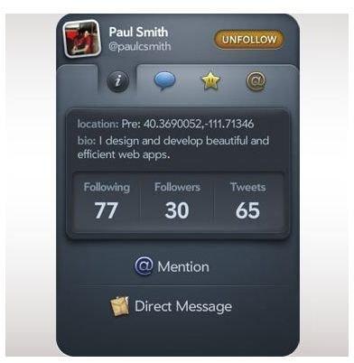 Tweet Me Palm Pixi App