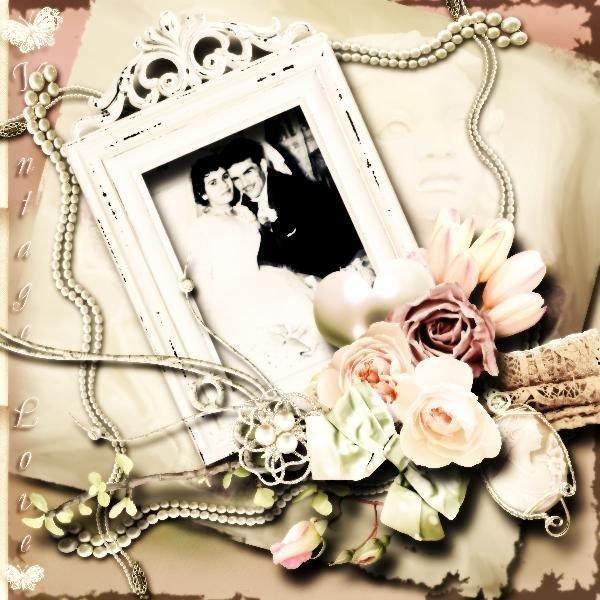 9b556a8c5b1580 10 Beautiful Wedding Scrapbook Layouts   Pages