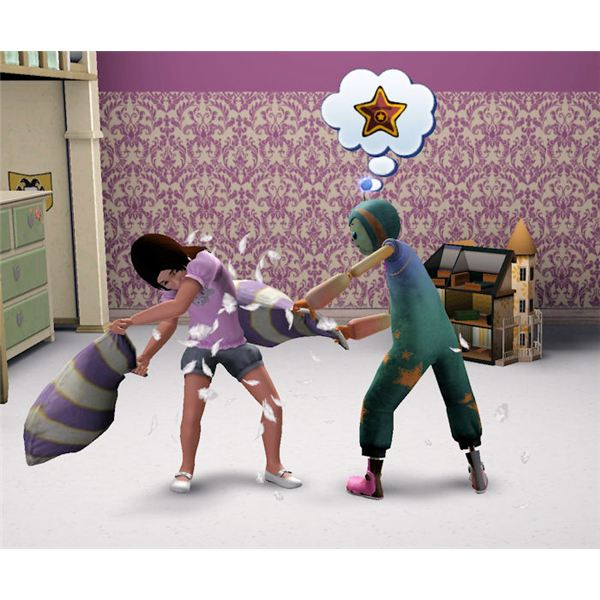 The Sims 3 imaginary friend pillow fight 1