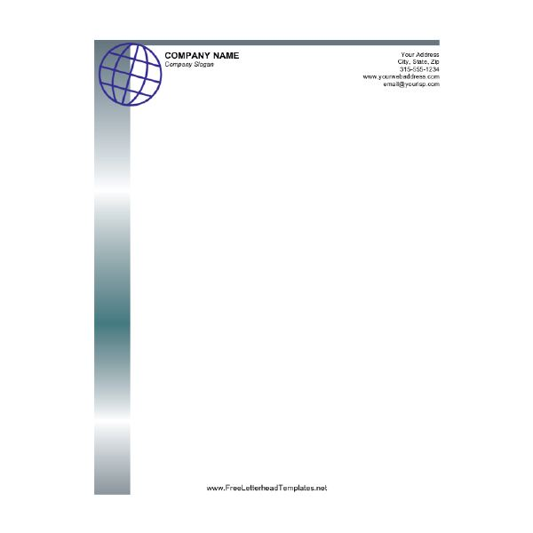 High Quality Business Letterhead Globe Within Best Free Letterhead Templates