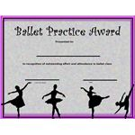 This Ballet Award can be given in recognition of effort and class attendance