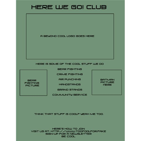 Club spotlight flyer template preview.