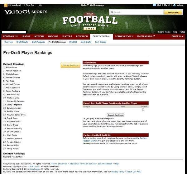 Fantasy Football Draft Strategies, Hints and Tips