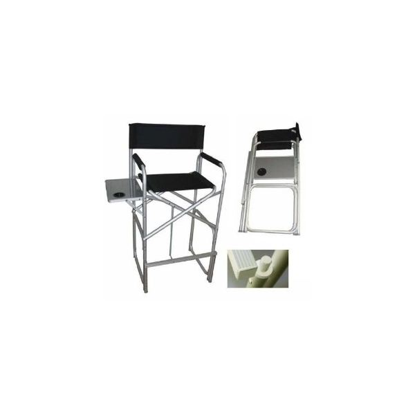 Hevy Duty Over Size Aluninum Folding High Director Chair