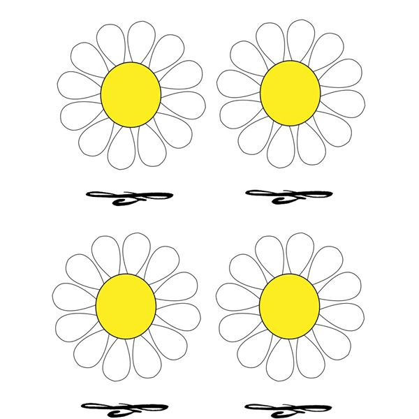 Free Place Cards with Daisy Design: Five Top Templates to
