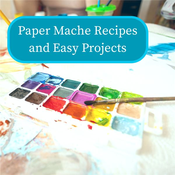 Paper mache projects are easy to make and clean up is a snap!