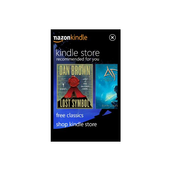 E-Book Reading Apps for Windows Phone include Kindle