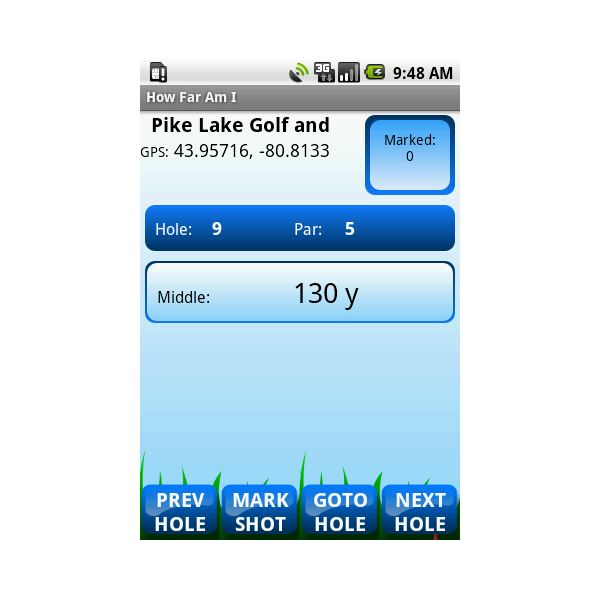 How Far Am I - golf application android-pic
