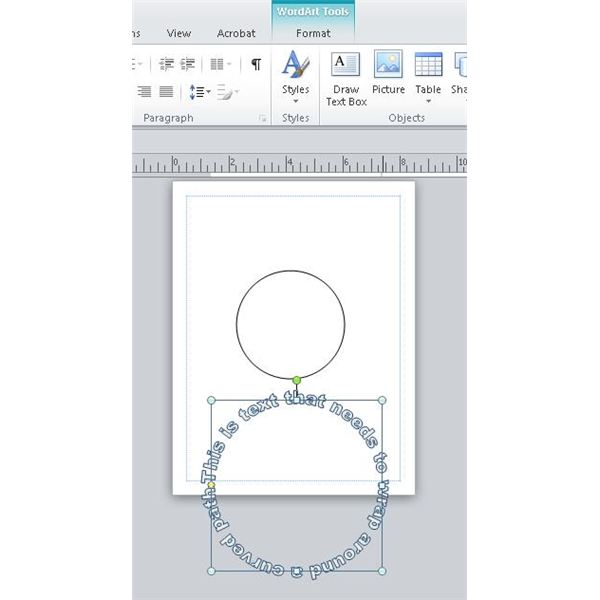 Learn how to wrap text around curved object in publisher curve007 publicscrutiny Choice Image