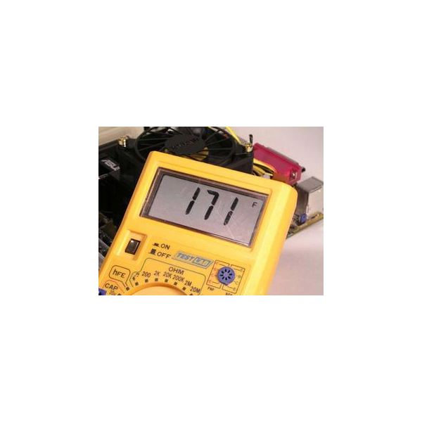 Temperature reading on multimeter