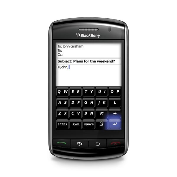 BlackBerry Email Writing