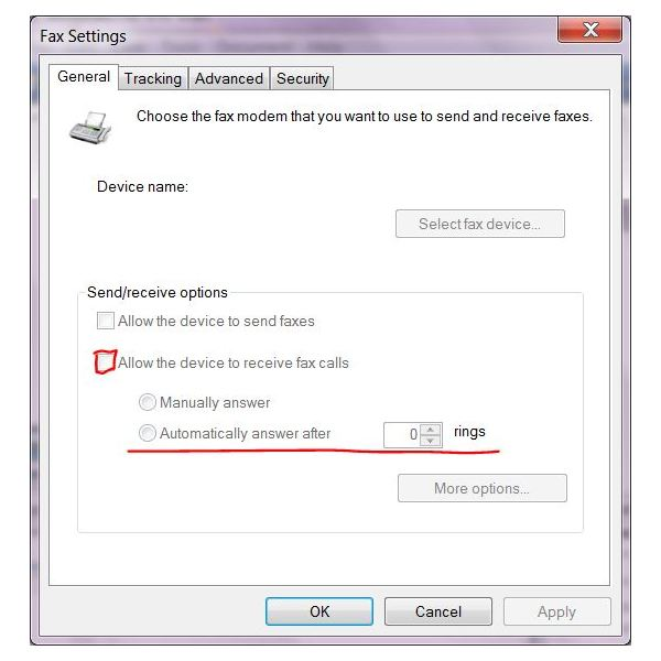 How to fax from Windows 7: receive