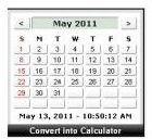 Calendar Calculator Clock by Widgipedia