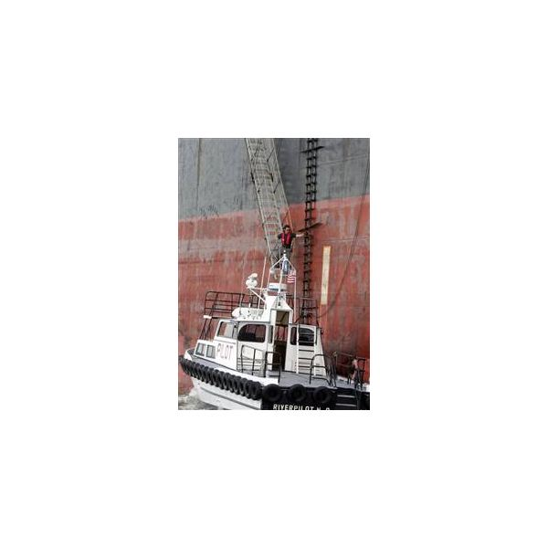 pilot boat and ladder