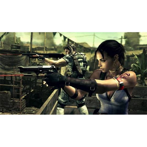 Chris is joined by Sheva, the newest member of the Resident Evil cast.