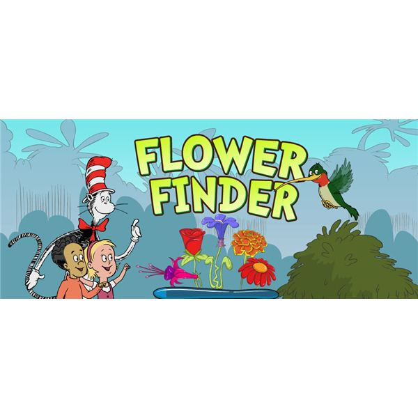 Cat in the Hat Flower Finder Game