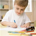 Visual learners enjoy drawing, especially with multi-colored pens and pencils