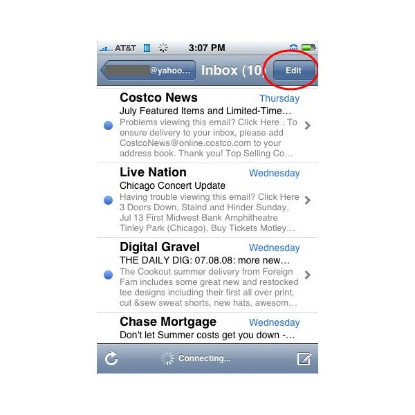 delete email on iphone how to delete all email from the iphone 2526