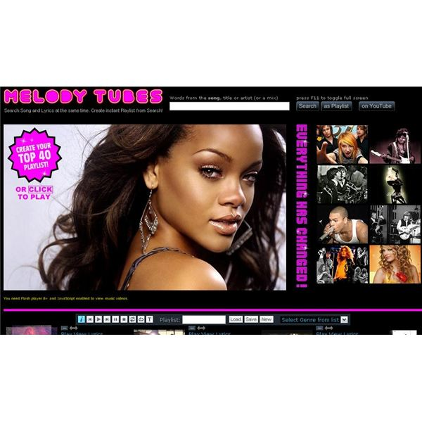 Melody Tubes Search Engine