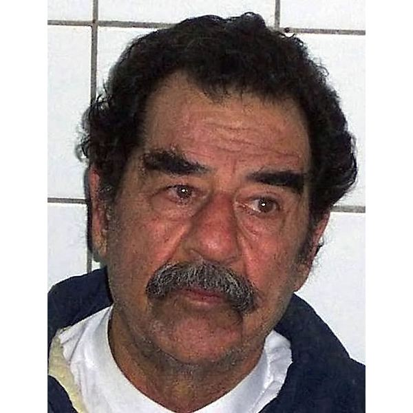 Saddam Hussein captured & shaven - image released into the public domain by the US Federal Govt.