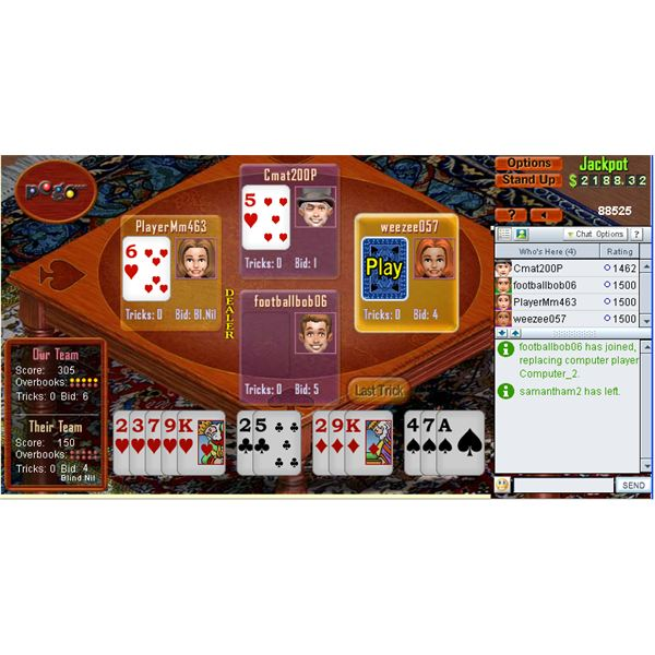 Spades is one of the best games at pogo.com