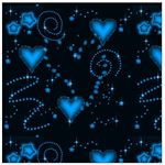 black-glowing-hearts