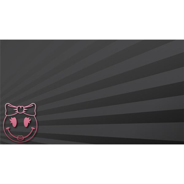 Black and Pink Smiley Face Background