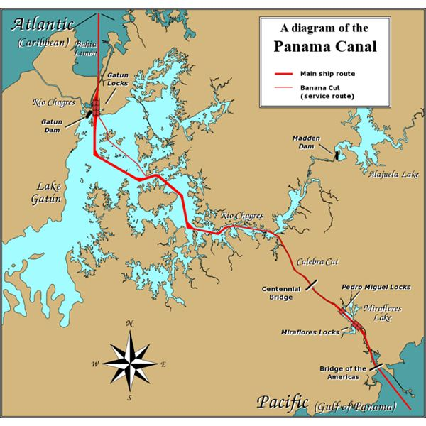 Panama Canal Location