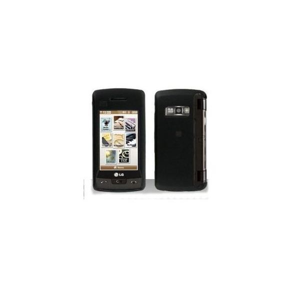 LG enV Touch Voyager2 VX11000 Black Rubber Feel Case Cover w:Belt Clip
